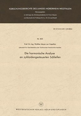 Abbildung von Meyer zur Capellen   Die harmonische Analyse an zykloidengesteuerten Schleifen   1961   835