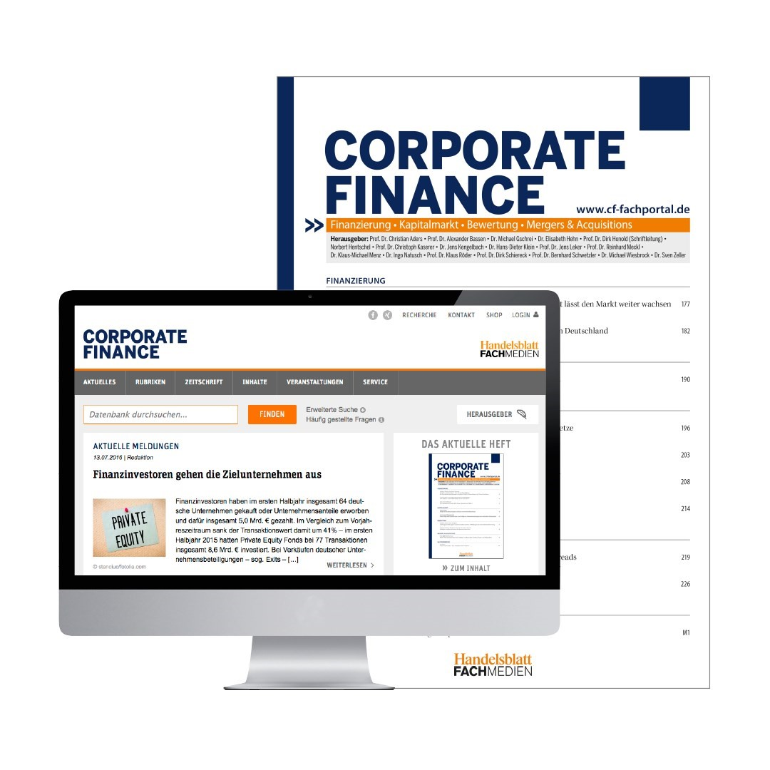 CORPORATE FINANCE | 8. Jahrgang, 2013 (Cover)