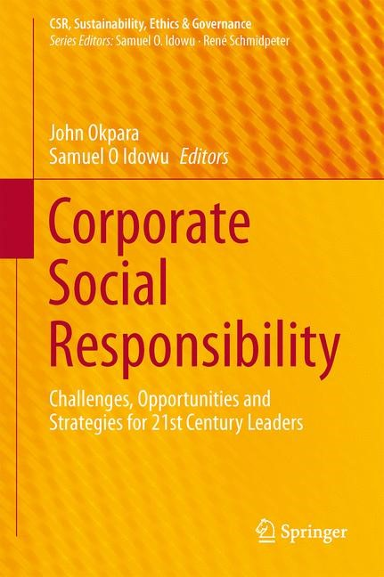 Corporate Social Responsibility | Okpara / Idowu, 2013 | Buch (Cover)