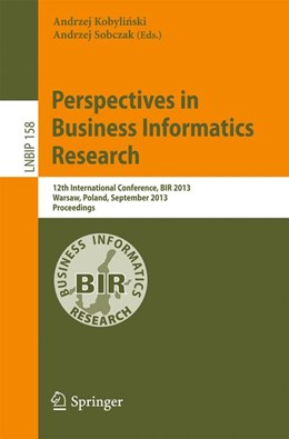 Abbildung von Kobylinski / Sobczak | Perspectives in Business Informatics Research | 2013 | 12th International Conference,... | 158