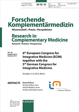 Abbildung von Dobos / Matthes / Michalsen | Integrative Medicine (ECIM) | 2013 | 6th European Congress for Inte...