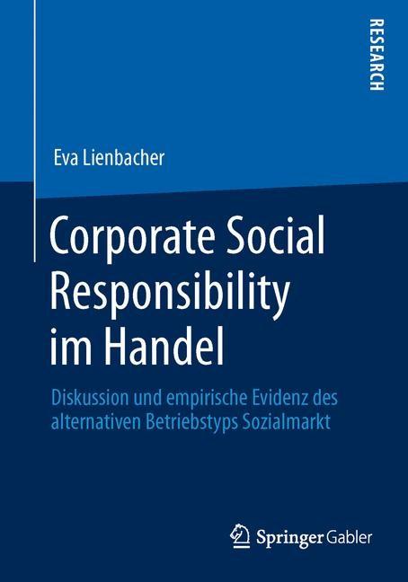 Corporate Social Responsibility im Handel   Lienbacher   1. Auflage 2013, 2013   Buch (Cover)