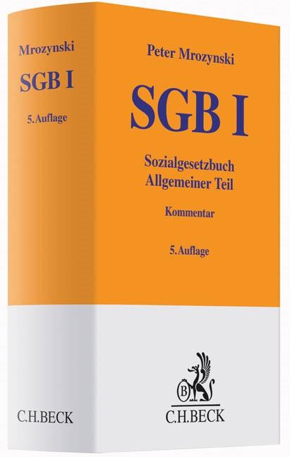 SGB I • Sozialgesetzbuch Allgemeiner Teil | Mrozynski | 5., vollständig neubearbeitete Auflage, 2014 | Buch (Cover)