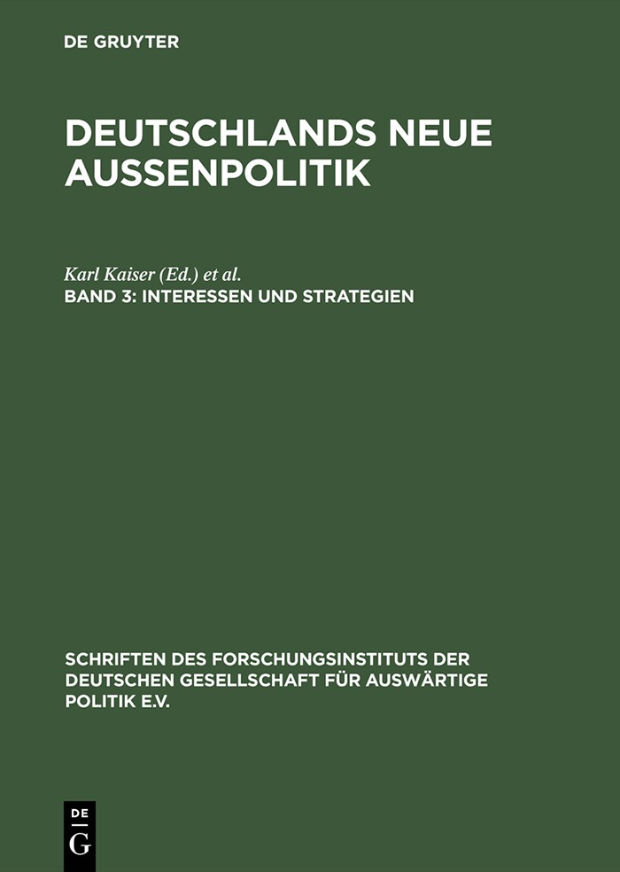 Interessen und Strategien | Kaiser / Krause | Reprint 2014, 1996 | Buch (Cover)