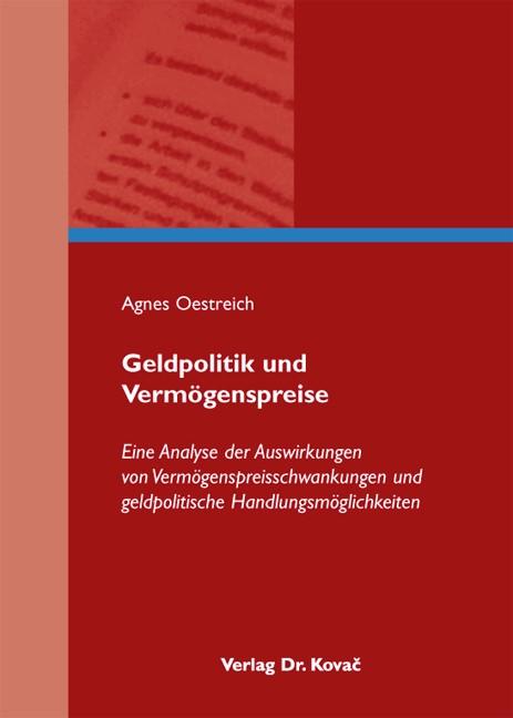 Geldpolitik und Vermögenspreise | Oestreich | 1. Auflage 2014, 2013 | Buch (Cover)
