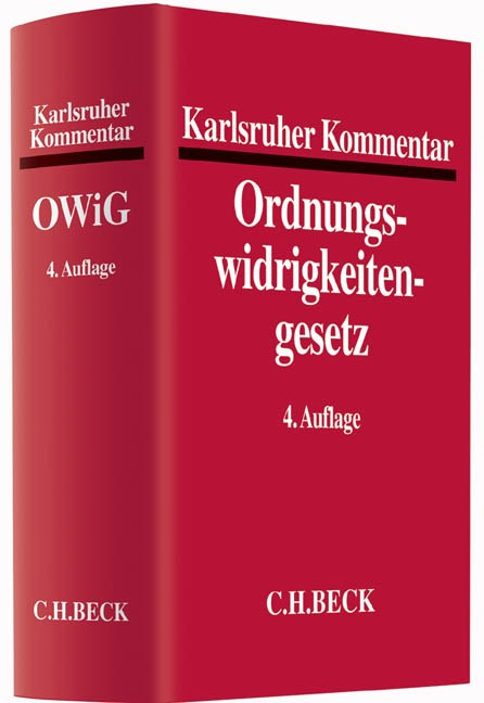 Karlsruher Kommentar zum Gesetz über Ordnungswidrigkeiten: OWiG | Buch (Cover)