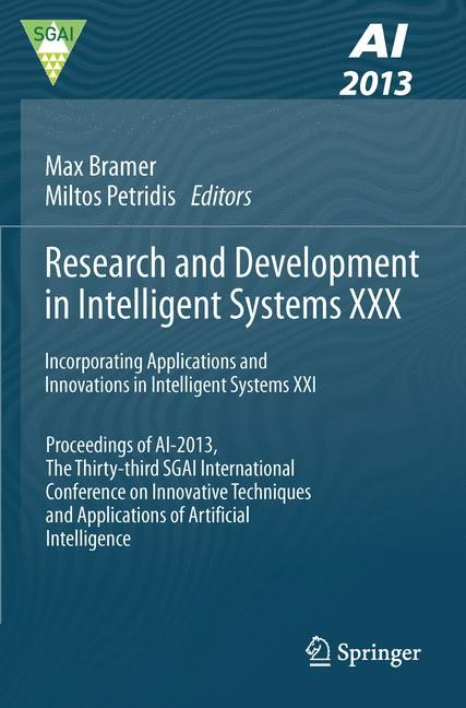 Research and Development in Intelligent Systems XXX | Bramer / Petridis, 2013 | Buch (Cover)