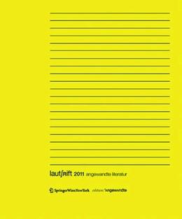 Abbildung von Scholl | Lautschrift 2011 | 2011 | angewandte literatur