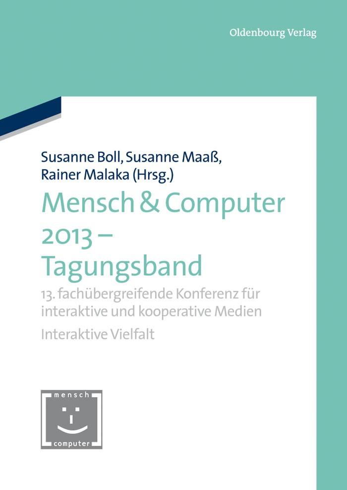 Abbildung von Boll / Maaß / Malaka   Mensch & Computer 2013 – Tagungsband   2013