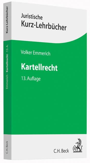 Kartellrecht | Emmerich | Buch (Cover)