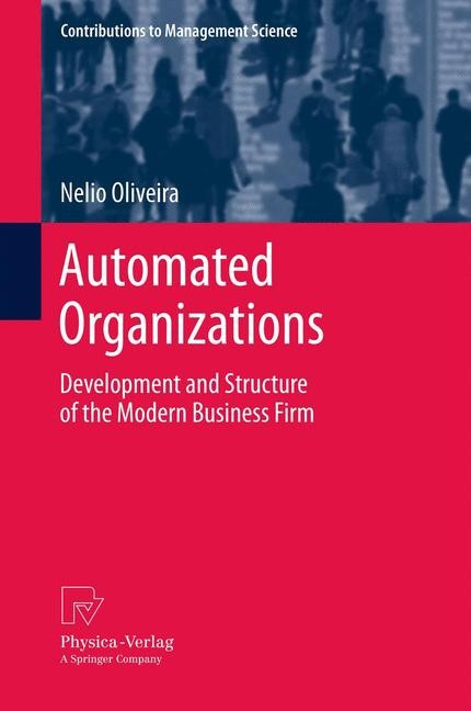Automated Organizations | Oliveira, 2013 | Buch (Cover)
