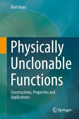 Abbildung von Maes | Physically Unclonable Functions | 1. Auflage | 2013 | beck-shop.de