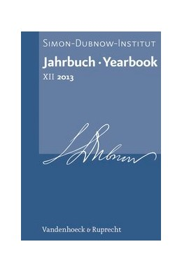 Abbildung von Diner | Jahrbuch des Simon-Dubnow-Instituts / Simon Dubnow Institute Yearbook XII/2013 | 2013