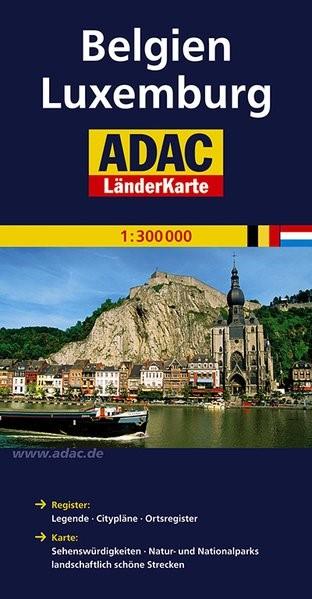 ADAC LänderKarte Belgien / Luxemburg 1 : 300 000 | 4. Auflage, Laufzeit bis 2017, 2013 (Cover)