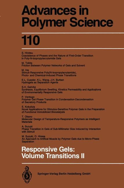 Responsive Gels: Volume Transitions II | Dusek, 2013 | Buch (Cover)