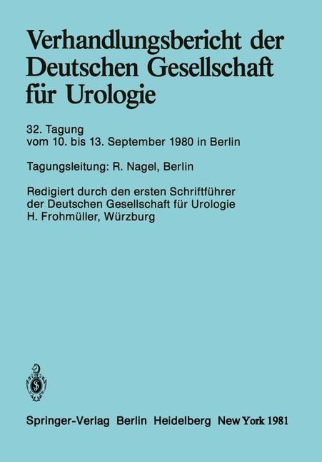 Abbildung von Verhandlungsbericht der Deutschen Gesellschaft für Urologie | 1981