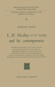 lh nicolay 17371820 and his contemporaries heier e