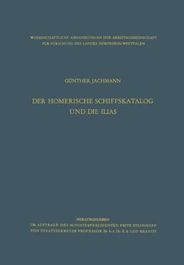 Abbildung von Jachmann   Der homerische Schiffskatalog und die Ilias   1958   5