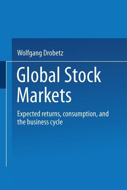 Global Stock Markets | Drobetz, 2000 | Buch (Cover)