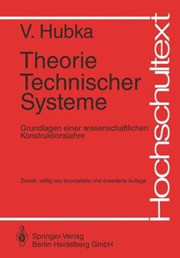 Abbildung von Hubka | Theorie Technischer Systeme | 2. Auflage | 1983 | beck-shop.de