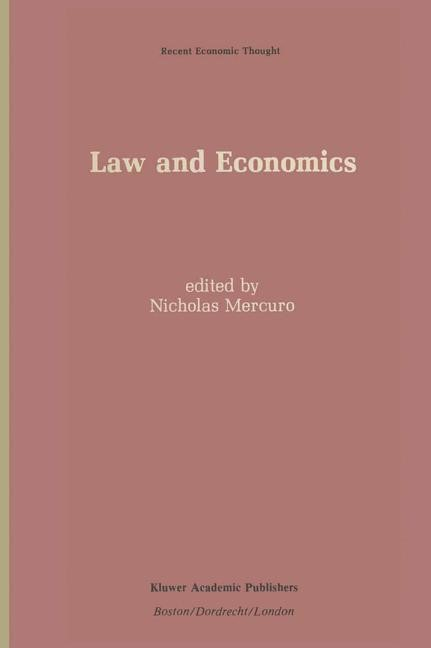 Abbildung von Mercuro | Law and Economics | 2011