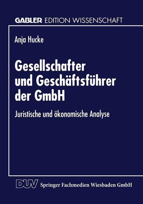 Abbildung von Gesellschafter und Geschäftsführer der GmbH   1996