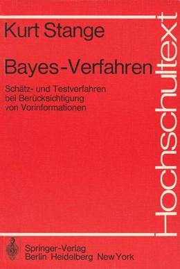 Abbildung von Deutler / Stange   Bayes-Verfahren   1. Auflage   1977   beck-shop.de