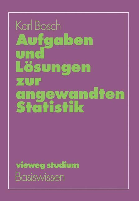Aufgaben und Lösungen zur angewandten Statistik | Bosch, 1983 | Buch (Cover)