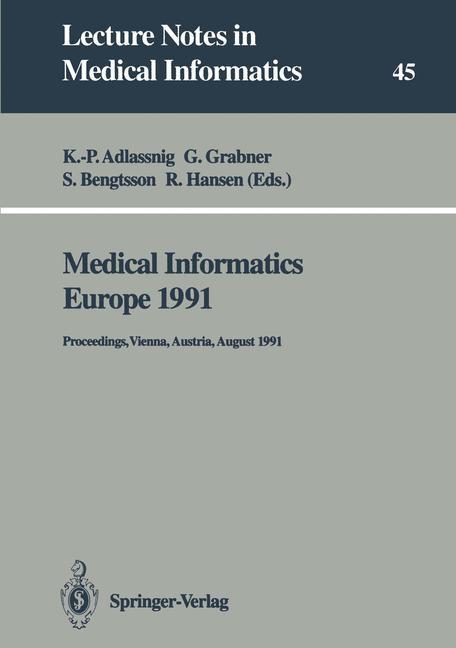 Abbildung von Adlassnig / Grabner / Bengtsson / Hansen | Medical Informatics Europe 1991 | 1991