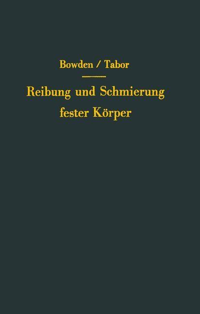 Reibung und Schmierung fester Körper | Bowden / Tabor, 2012 | Buch (Cover)