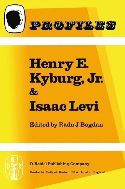 Abbildung von Bogdan | Henry E. Kyburg, Jr. & Isaac Levi | 1982