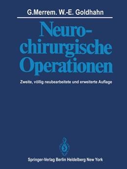 Abbildung von Merrem / Goldhahn   Neurochirurgische Operationen   2012