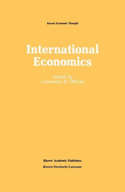 Abbildung von Officer | International Economics | 2011