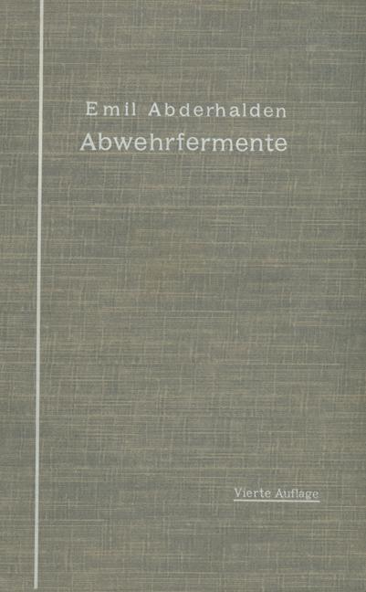 Abwehrfermente   Abderhalden, 1914   Buch (Cover)