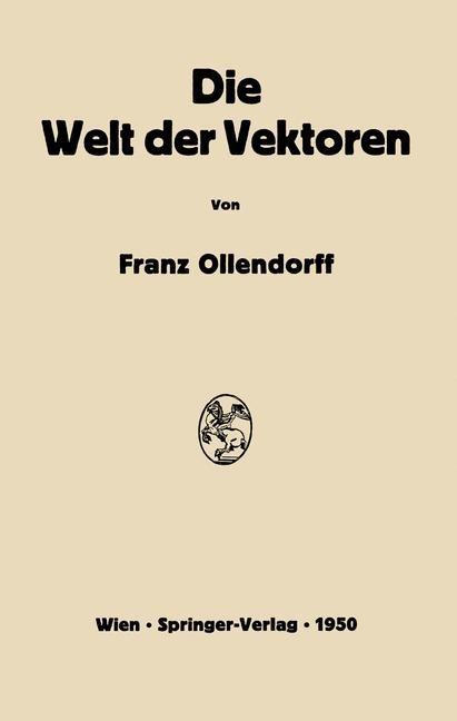 Die Welt der Vektoren | Ollendorff, 2012 | Buch (Cover)