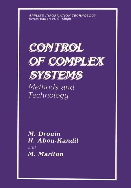 Abbildung von Abou-Kandil / Drouin / Mariton | Control of Complex Systems | 2013