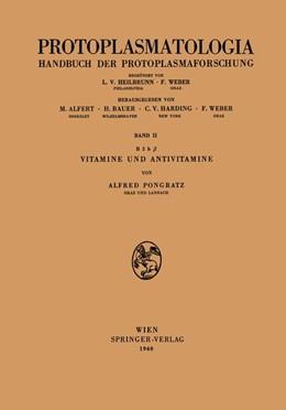 Abbildung von Pongratz | Vitamine und Antivitamine | 1960