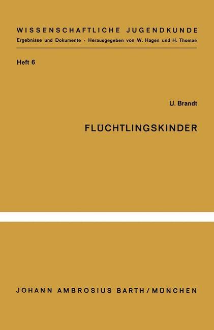 Flüchtlingskinder   Brandt, 1965   Buch (Cover)