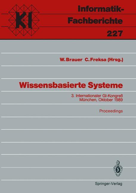 Wissensbasierte Systeme | Brauer / Freksa, 1989 | Buch (Cover)