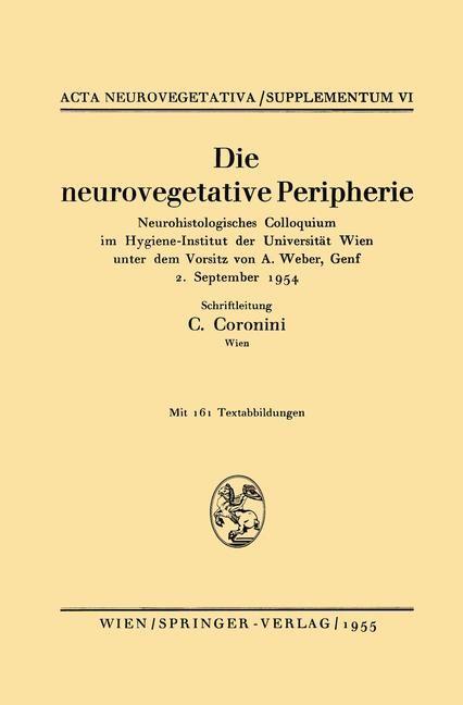 Die neurovegetative Peripherie, 1955   Buch (Cover)