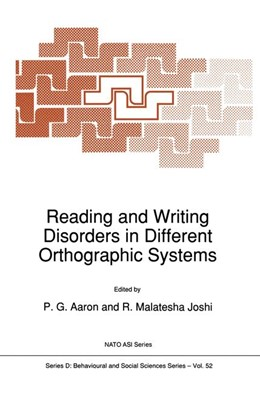 Abbildung von Aaron / Joshi | Reading and Writing Disorders in Different Orthographic Systems | 2011 | 52