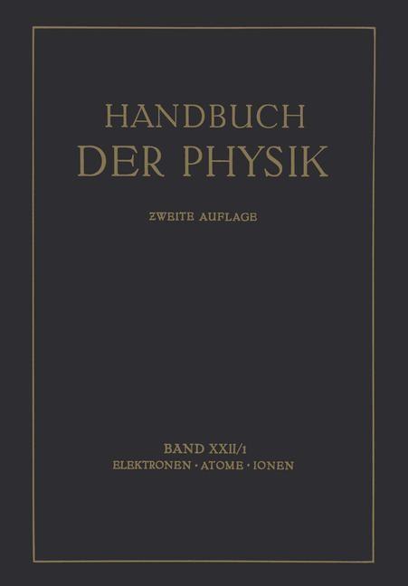 Elektronen · Atome Ionen | Bothe / Geiger / Scheel, 1933 | Buch (Cover)