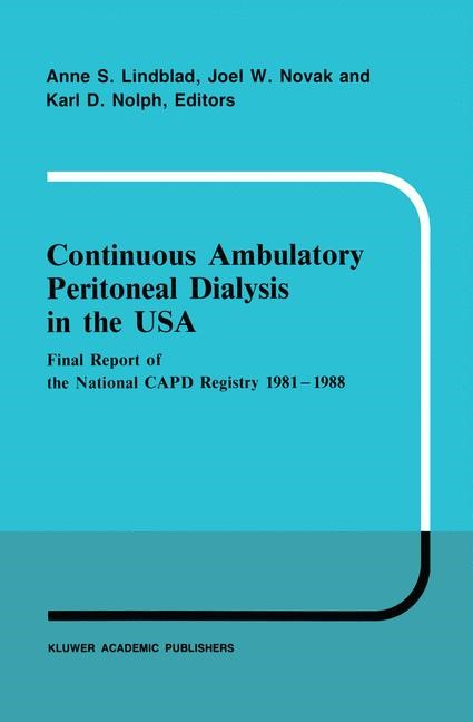 Continuous Ambulatory Peritoneal Dialysis in the USA | Lindblad / Novak / Nolph, 2011 | Buch (Cover)