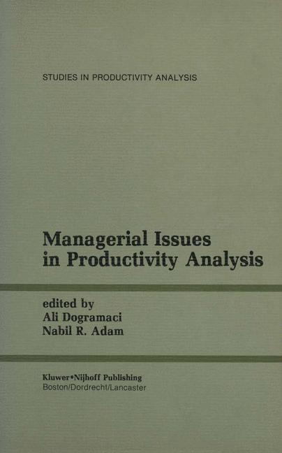 Abbildung von Dogramaci / Adam   Managerial Issues in Productivity Analysis   2012