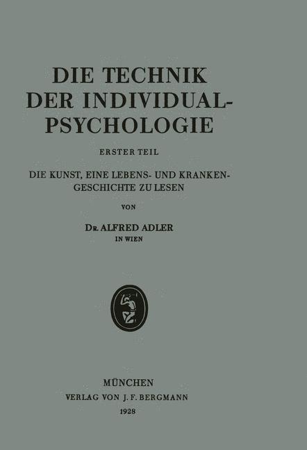Die Technik der Individualpsychologie | Adler, 1928 | Buch (Cover)