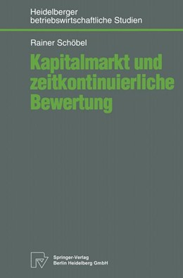 Abbildung von Schöbel | Kapitalmarkt und zeitkontinuierliche Bewertung | 1995