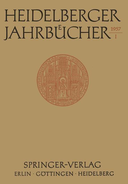 Heidelberger Jahrbücher, 1957 | Buch (Cover)