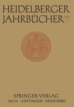 Abbildung von Heidelberger Jahrbücher | 1957 | 1