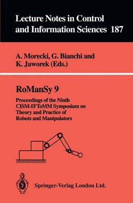 Abbildung von Morecki / Bianchi / Jaworek | RoManSy 9 | 1993 | Proceedings of the Ninth CISM-... | 187