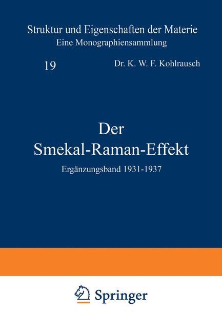 Der Smekal-Raman-Effekt   Born / Franck / Hund / Mark, 1938   Buch (Cover)